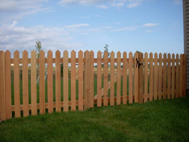Cedar Picket Fences Mn Fence Installation Company Dan