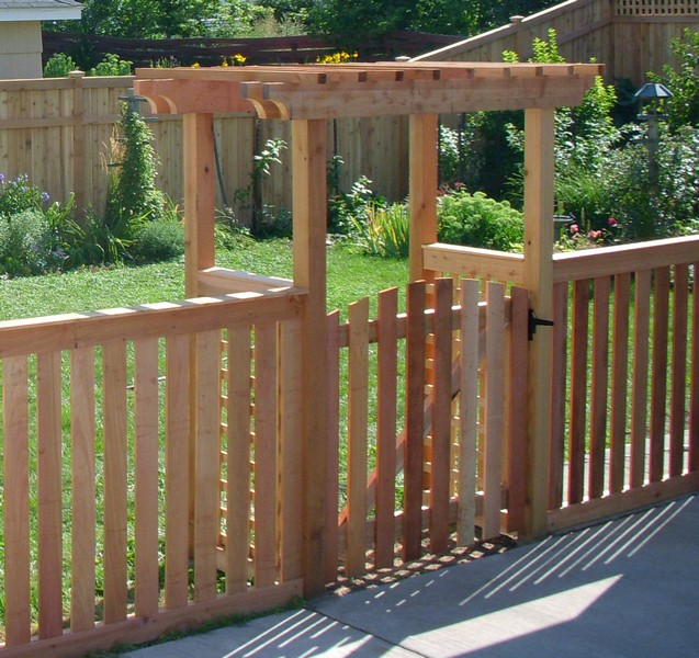Picket Fence Gate With Arbor